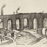 Stockport Viaduct by Lowry