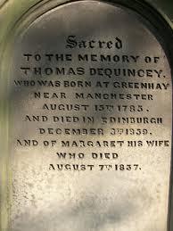 De Quincey grave