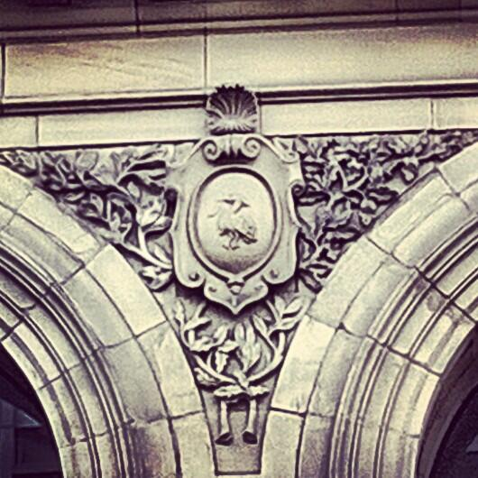 This is a Liver Bird – on the wall of Manchester's most important building!