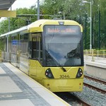 A tram at Withington Metrolink stop. How exciting! This is where we start.