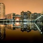 Salford Quays at night1